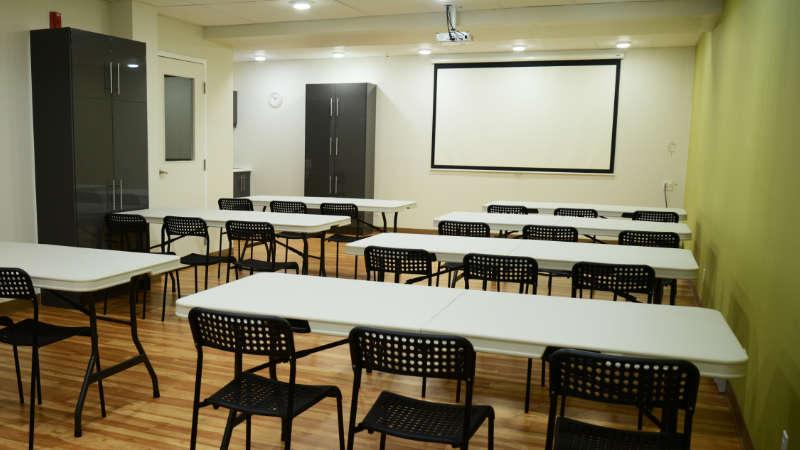 Salle de formation - vue d'ensemble